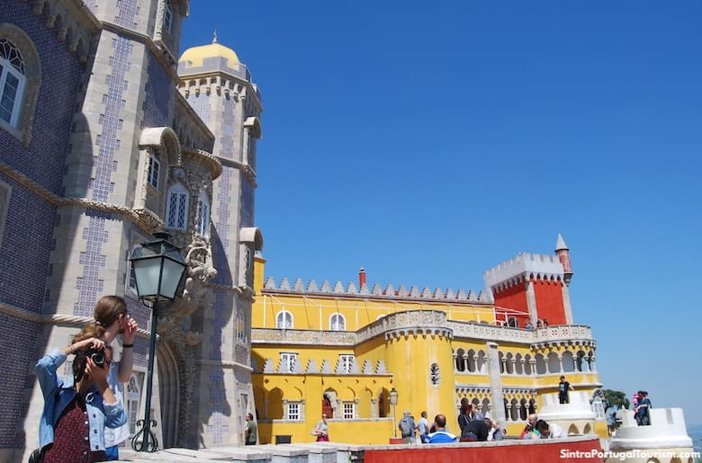 Tourists in Pena Palace, Sintra