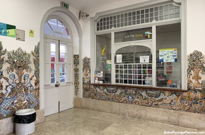 Tourist office inside Sintra Train Station